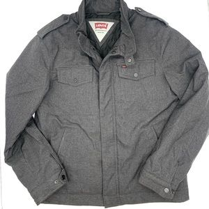 Levi's Lined Herringbone Military Jacket.